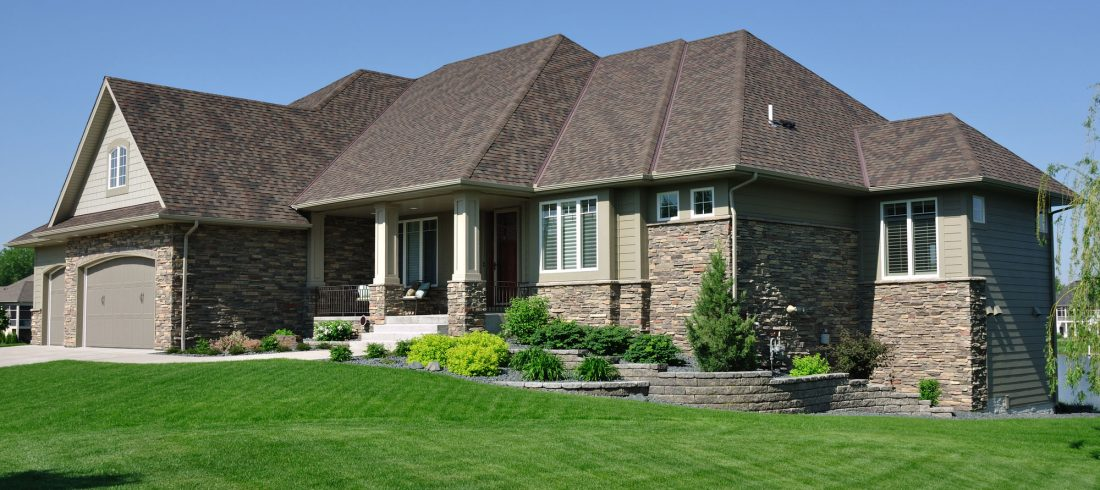 Suburban Home With New Roof